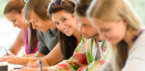 http://www.dreamstime.com/stock-photography-students-writing-high-school-exam-teens-study-image26602222